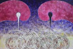 ことだま - kotodama - 23 Size  727 × 910 Acrylic Canvas